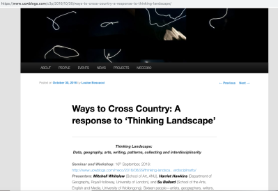Ways to Cross Country - 3 -2016